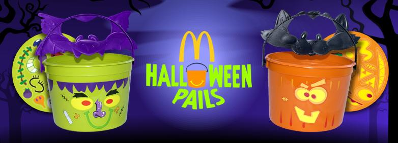 McDonalds Happy Meal Toys Halloween Pails