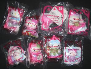 Hello Kitty 2011 McDonalds Happy Meal Toys Complete Set of 8 Winter Fun