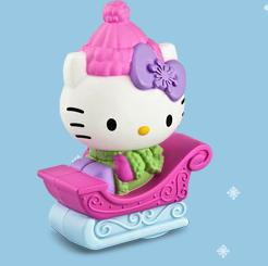 Sleigh Ride Hello Kitty McDonalds Happy Meal Toy