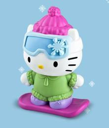 Snow Boarding Hello Kitty McDonalds Happy Meal Toy