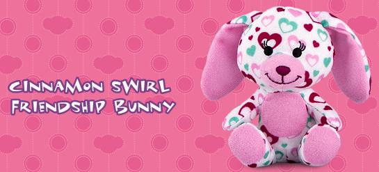 Cinnamon Swirl Friendship Bunny #2 Build A Bear Workshop 2012 Happy Meal Toy