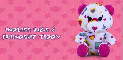 Endless Hugs and Friendship Teddy #3 Build A Bear Workshop 2012 Happy Meal Toy