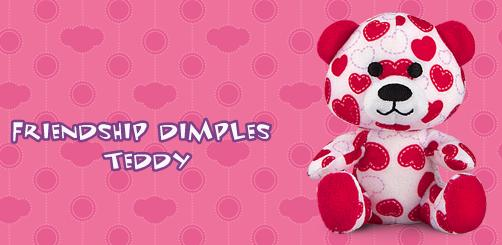 Friendship Dimples Teddy #5 Build A Bear Workshop 2012 Happy Meal Toy