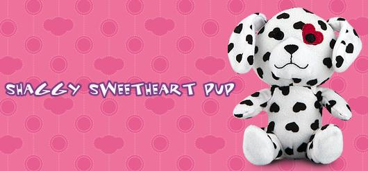 Shaggy Sweetheart Pup #4 Build A Bear Workshop 2012 Happy Meal Toy
