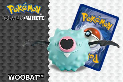 2012 Pokemon Happy Meal Toys Black and White Number 3 Woobat
