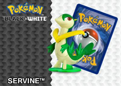 2012 Pokemon Happy Meal Toys Black and White Number 4 Servine
