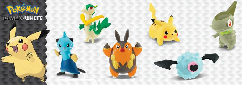 Pokemon Black and White 2012 Happy Meal Toys