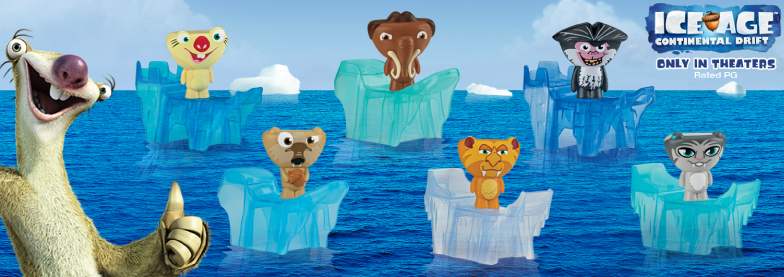 Ice Age Continental Drift 2012 Happy Meal Toys