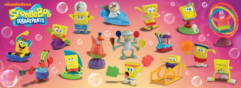 Spongebob Squarepants Happy Meal Toys