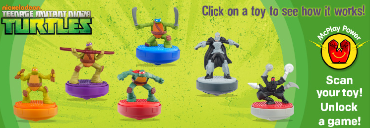 TMNT Happy Meal Toy Tops